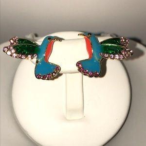 Jewelry - Multicolored flying bird earrings